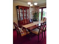 Dining Table with 6 chairs and display unit