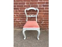 Gorgeous shabby chic balloon back chair