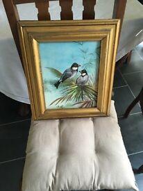 Antique Birds Painting.Bargain!
