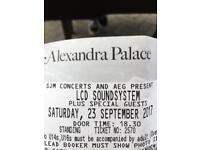 1 x LCD SOUND SYSTEM sat 23rd ally pally