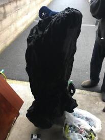 Golf club bag waterproof - black