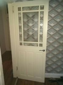 5 interior solid wood doors 2 glazed