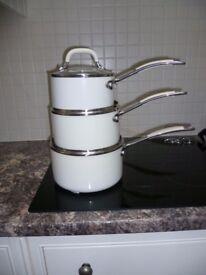 Set of 3 Debenhams Collection saucepans