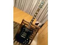 Ebony Gibson SG 2013 w/pup upgrade