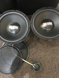 12 inch JBL GT4-12 subwoofer in good condition - 1000 watts each