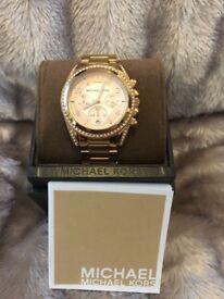 Genuine Michael Kors Ritz rose gold watch.