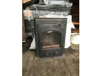 Open fire stove inset