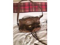 Brown satchel bag £1.50