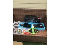 Wii Nintendo Sports with games guns Zumba belt & Dvd excellent condition