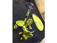 Smart Trike suitable for children as advertised 10-36 months in lime green colouring