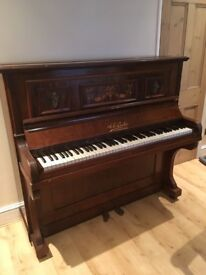 Antique Victorian/Edwardian upright piano (could be bar, sideboard or decorative)