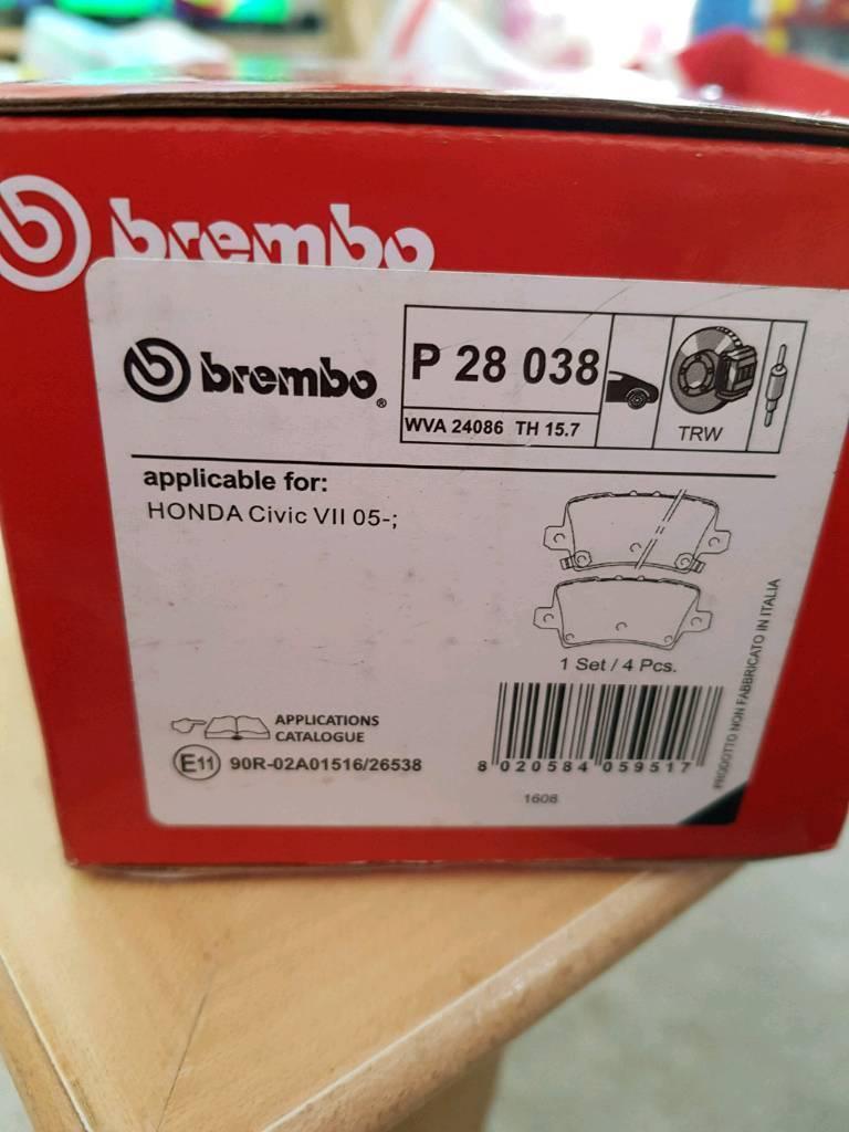 Brand New Brembo Rear Break Pads For Honda Civic In Ottery St