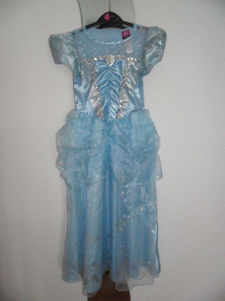 Disney Princess Dress Age 9-10yrs. Blue/Silver & Silver Tiara. VG Cond. Buyer to Collect/No offers