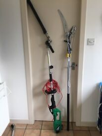 Pole hedge trimmer and pole saw