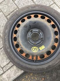 Space saver spare tyre for Zafira Vauxhall