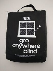 Portable Blackout blind from Gro Anywhere - perfect for kids rooms and travelling