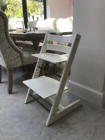 White Tripp trapp highchair