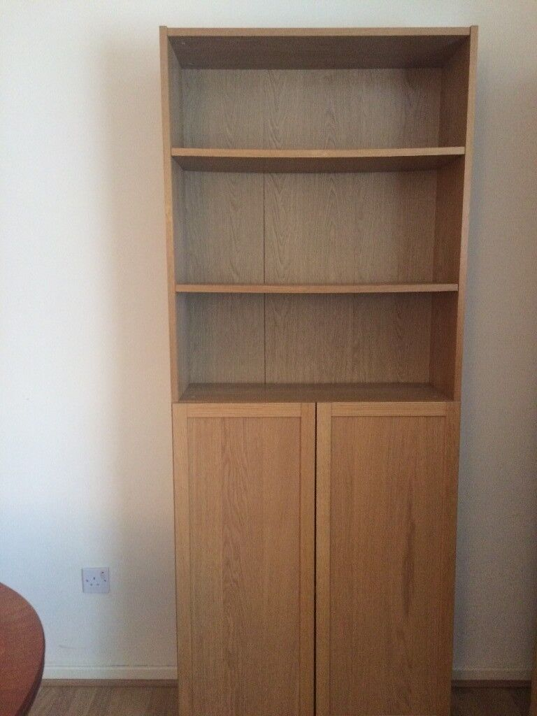 ikea billy bookcase 2 doors for sale in leicester. Black Bedroom Furniture Sets. Home Design Ideas