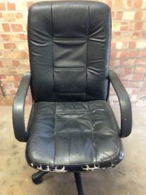 Leather comfy office chair