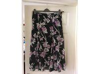 Marks & Spencer floral lined skirt size 16 wedding