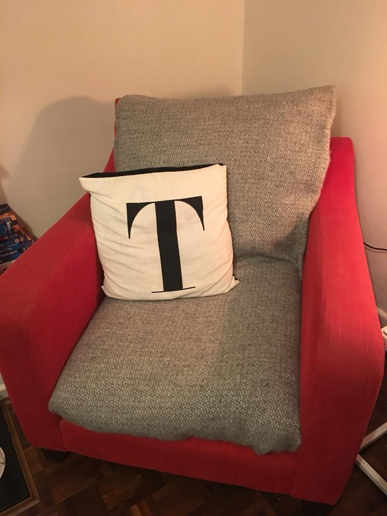 Gorgeous comfy red arm chair