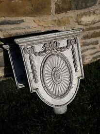 Cast iron hopper/wall planter
