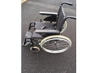 Wheelchair folding self propelled