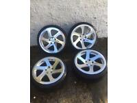 "3sdm 0.06 alloy wheels 18"" 5x112 staggered fitment 8.5 9.5 vw. Audi golf scirocco A3 cc Leon bbs"