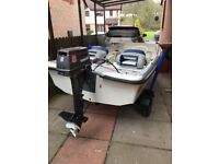 Orkney Dory 315, with 8hp Tohatsu, Two Stroke with Electric start and Remote Controls and Trailer