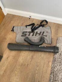 Stihl vacuum bag and attachments