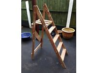 Vintage step ladder for shelves project