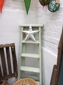 Painted Green wooden Ladder