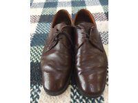 Loake Aintree Size 11 UK11 Dark Brown Lace Up Shoes - Buffalo Grain - Vintage
