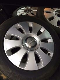 Alloy wheels and tyres 5x112