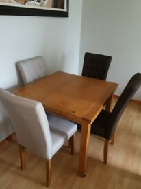Extended table and chairs for sale