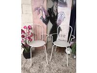 New Pair Of Grey Garden Chairs