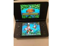 Black Nintendo dsi xl with 300 excellent games