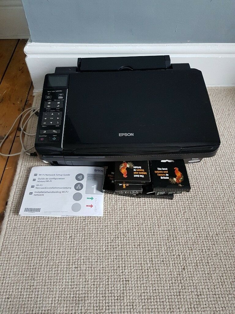 Epson stylus sx515w printer and scanner. Working with cables and spare inks