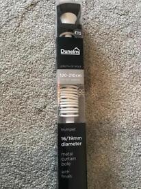 Dunelm mills extendable white trumpet curtain pole