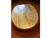 Solid Oak Toilet Seat