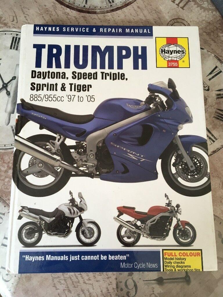 Triumph Daytona Speed Triple Sprint And Tiger Haynes Workshop Wiring Diagram Manual