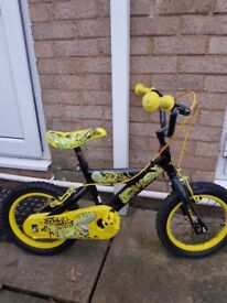 Kids bike and kids go kart