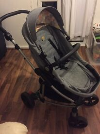 Loco baby buggy with car seat