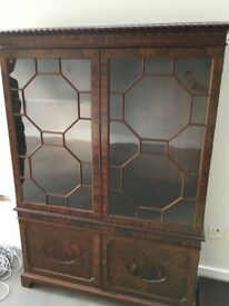 Beautiful Mahogany Waring and Gillows Chippendale style bookcase/ side board.