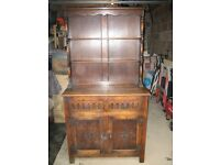 Two door and drawer Dresser/Sideboard with Display Plate Unit