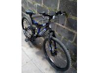 twin disc brake full suspention bike 26in wheels