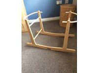 Rocking Moses basket stand - mint condition