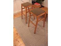 2 x kitchen stools (mid century)