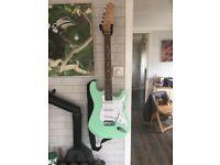 Jeff Beck Fender copy homage fat neck electric guitar