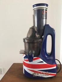 Jason Vale Retro slow juicer Brit Edition